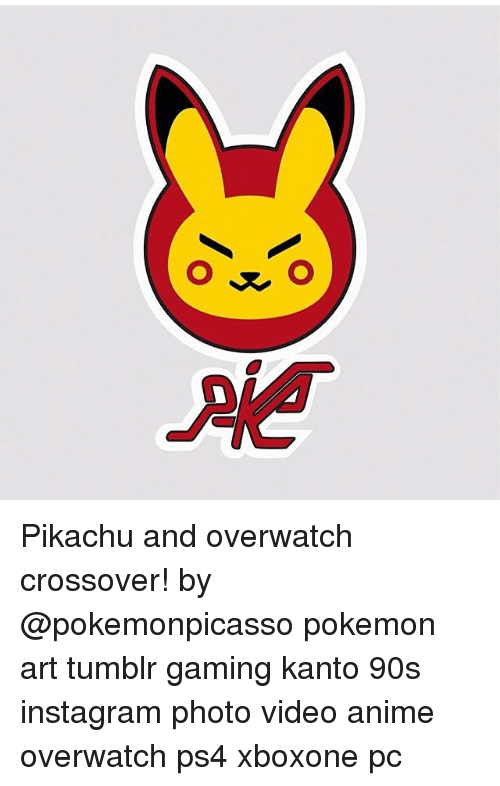 Pikachu and Overwatch Crossover! By Pokemon Art Tumblr