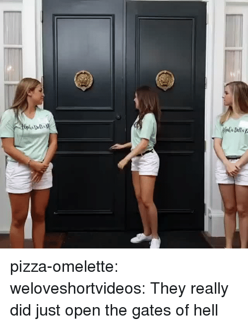 Pizza, Target, and Tumblr: pizza-omelette:  weloveshortvideos:  They really did just open the gates of hell