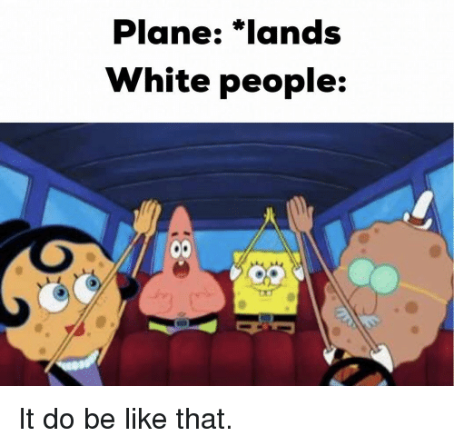 Be Like, White People, and White: Plane: *lands  White people: It do be like that.