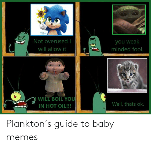 Guide To: Plankton's guide to baby memes