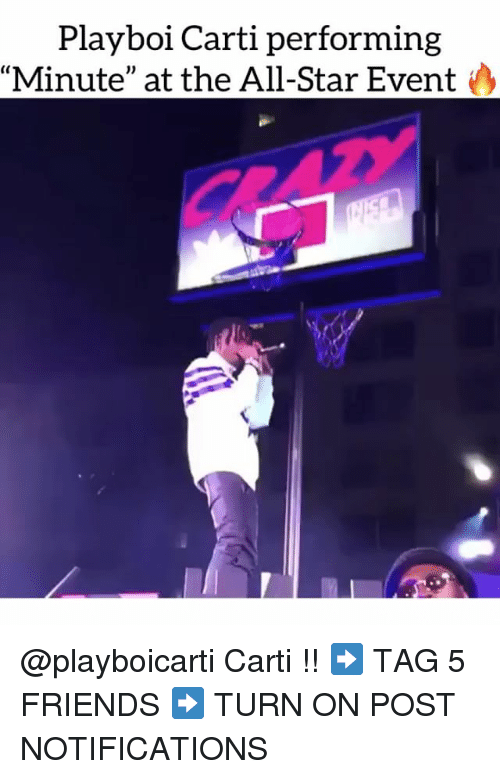 """Playboi Carti: Playboi Carti performing  Minute"""" at the All-Star Event @playboicarti Carti !! ➡️ TAG 5 FRIENDS ➡️ TURN ON POST NOTIFICATIONS"""