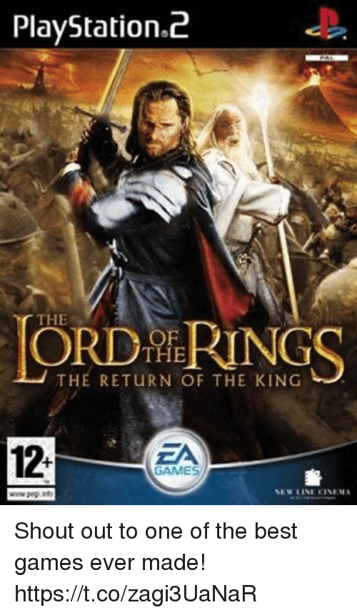 playstation 2: PlayStation.2  THE  OF  THE  THE RETURN OF THE KING  12-  ZA  GAMES  휼  NEW LINE CINEMA Shout out to one of the best games ever made! https://t.co/zagi3UaNaR