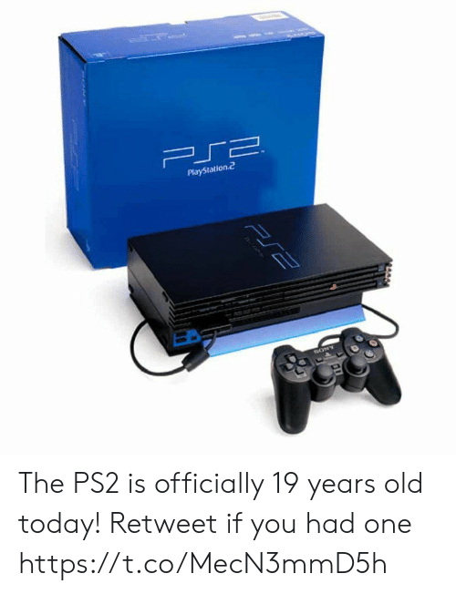 playstation 2: PlayStation.2 The PS2 is officially 19 years old today!  Retweet if you had one https://t.co/MecN3mmD5h
