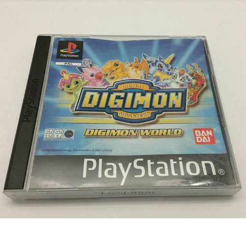 Animals, Anime, and Dank: PlayStation  DIGIMON  BAN  999 Auhoahl Hongo, Toer Animation o2001 BANOA!  PlayStation