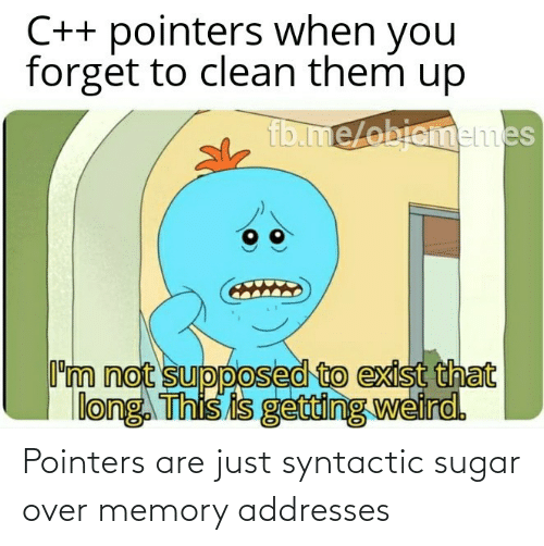 Sugar: Pointers are just syntactic sugar over memory addresses