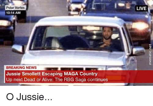 Alive, Dead or Alive, and News: Polar Vortex  LIVE  10:14 AM  BREAKING NEWS  Jussie Smollett Escaping MAGA Country  Up next Dead or Alive: The RBG Saga continues