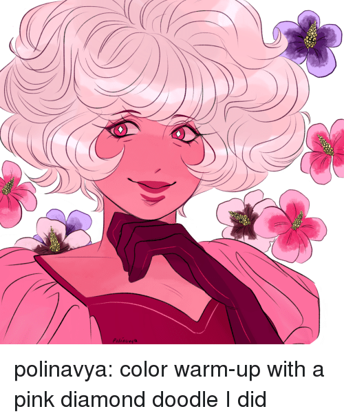 Target, Tumblr, and Blog: Polinavy a polinavya:  color warm-up with a pink diamond doodle I did