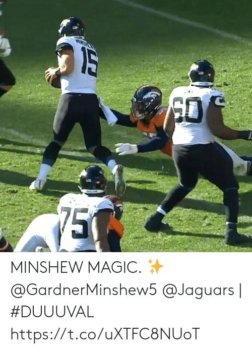 jaguars: PONST  75 MINSHEW MAGIC. ✨ @GardnerMinshew5  @Jaguars | #DUUUVAL https://t.co/uXTFC8NUoT