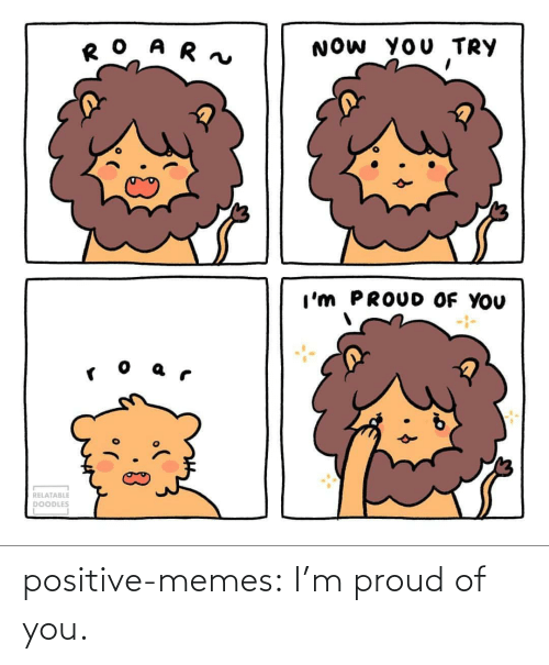 Proud Of You: positive-memes:  I'm proud of you.