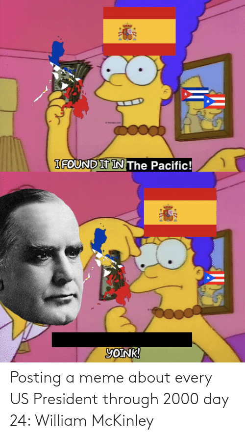 us president: Posting a meme about every US President through 2000 day 24: William McKinley
