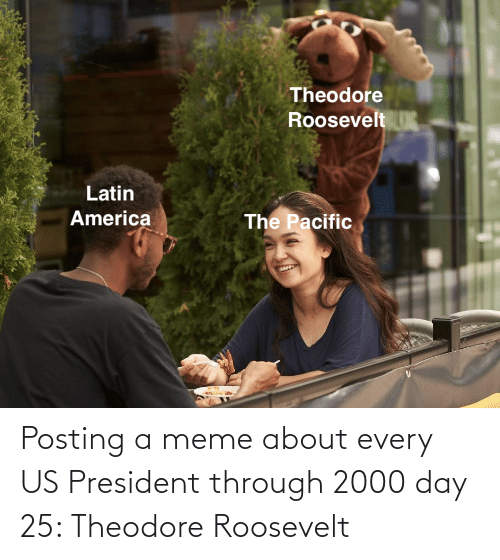 us president: Posting a meme about every US President through 2000 day 25: Theodore Roosevelt