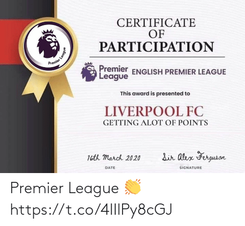 Premier League: Premier League 👏 https://t.co/4IIlPy8cGJ