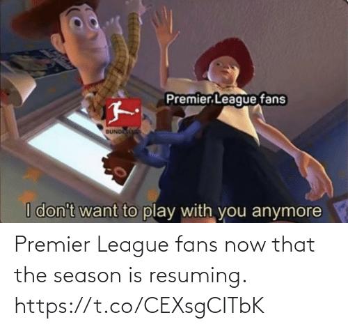 soccer: Premier League fans now that the season is resuming. https://t.co/CEXsgCITbK
