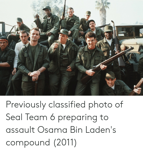 Previously Classified Photo of Seal Team 6 Preparing to Assault