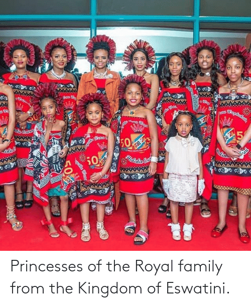 Royal family: Princesses of the Royal family from the Kingdom of Eswatini.