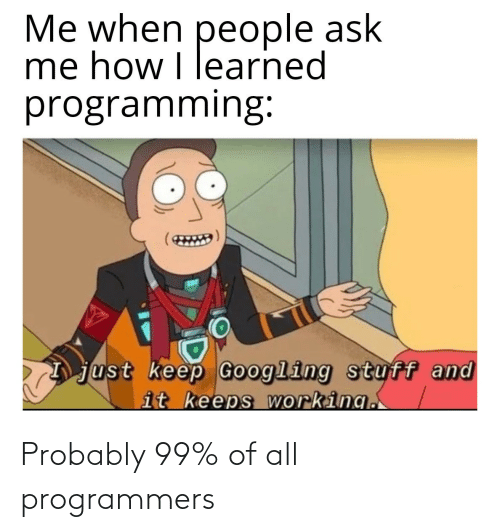 probably: Probably 99% of all programmers