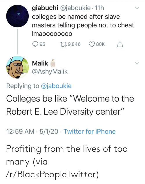 Many: Profiting from the lives of too many (via /r/BlackPeopleTwitter)