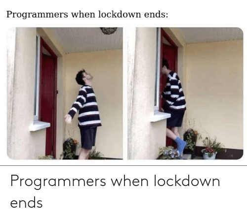 Lockdown, When, and Ends: Programmers when lockdown ends