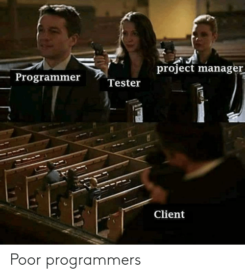 project manager: project manager  Programmer  Tester  Client Poor programmers