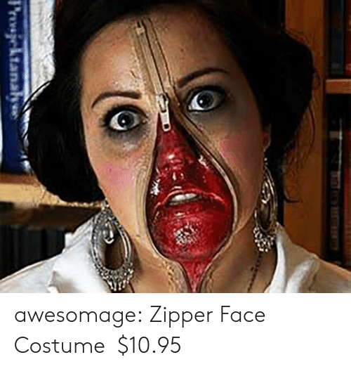 Tumblr, Blog, and Com: Provsjektanaha awesomage:  Zipper Face Costume   $10.95