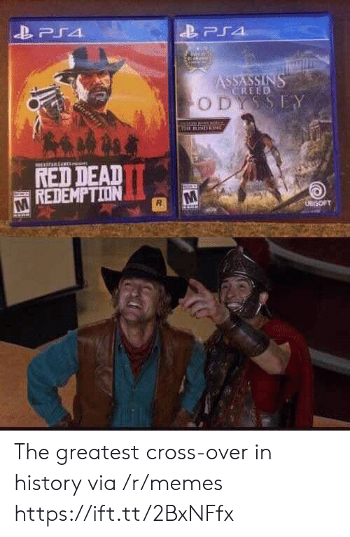 Red Dead Redemption: PS4  ASSASSINS  CREED  ODYSSEY  TARENE  RED DEAD  REDEMPTION  UBrSOFT The greatest cross-over in history via /r/memes https://ift.tt/2BxNFfx