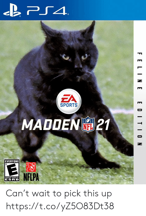 Football, Nfl, and Ps4: PS4  EA  SPORTS  MADDEN21  NFL  EVERYONE  NFLPA  CONTENT RATED BY  ESRB  F ELINE  EDITION Can't wait to pick this up https://t.co/yZ5O83Dt38