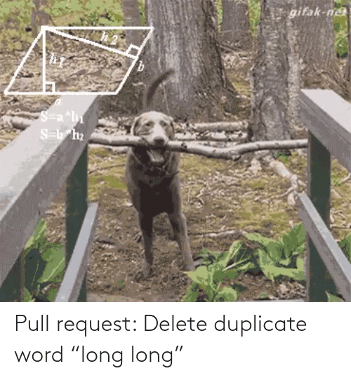 "Word: Pull request: Delete duplicate word ""long long"""