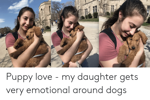 Dogs, Love, and Puppy: Puppy love - my daughter gets very emotional around dogs