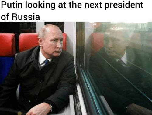 Putin, Russia, and Looking: Putin looking at the next president  of Russia