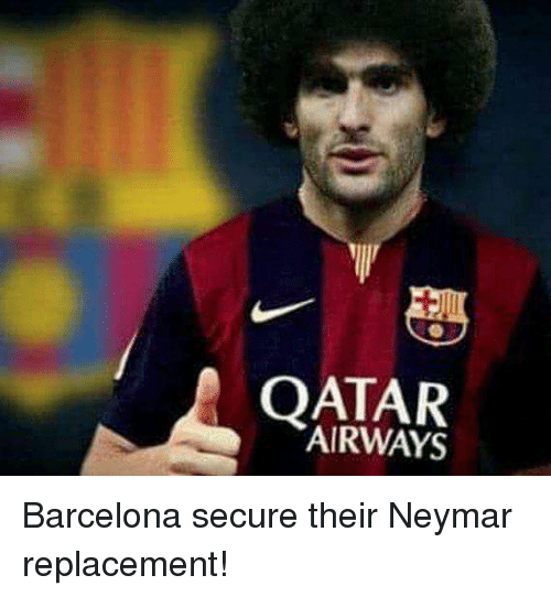qatar airways: QATAR  AIRWAYS Barcelona secure their Neymar replacement!