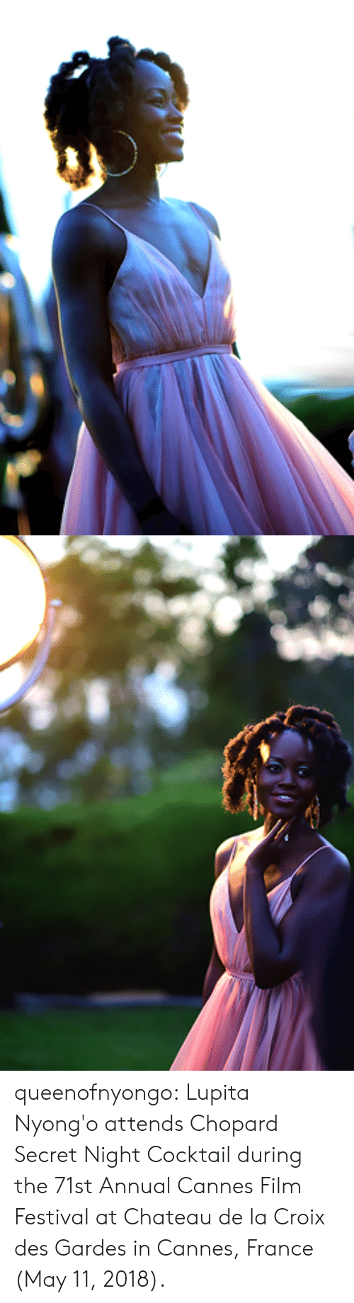 Target, Tumblr, and Blog: queenofnyongo:   Lupita Nyong'o attends Chopard Secret Night Cocktail during the 71st Annual Cannes Film Festival at Chateau de la Croix des Gardes in Cannes, France (May 11, 2018).
