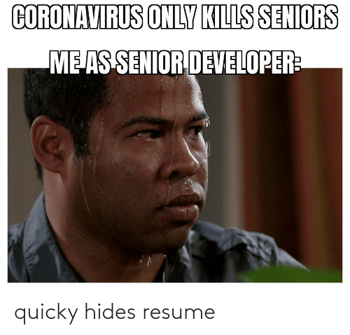 Quicky: quicky hides resume