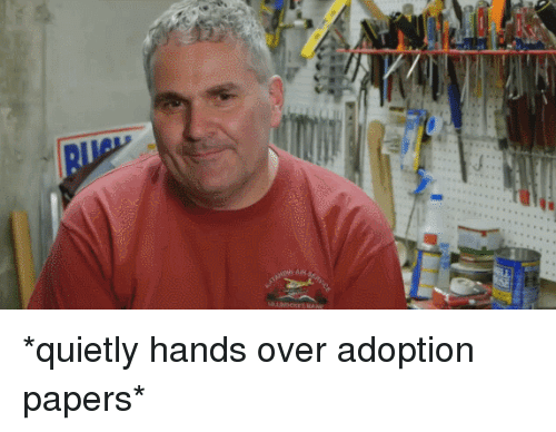 Neckbeard Things: *quietly hands over adoption papers*