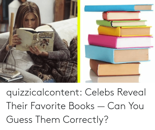 brady: quizzicalcontent:    Celebs Reveal Their Favorite Books — Can You Guess Them Correctly?
