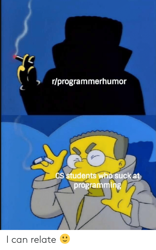 Programming, Who, and Can: r/programmerhumor  CS students who suck at  programming I can relate 🙂