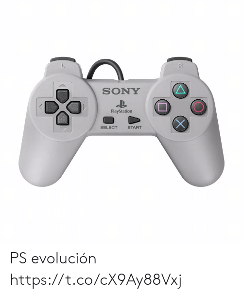PlayStation: R  SONY  PlayStation  SELECT  START PS evolución  https://t.co/cX9Ay88Vxj