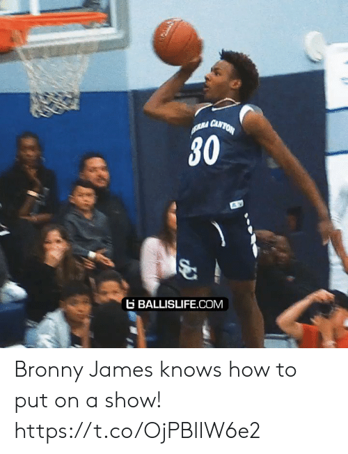 Knows How To: RA CANTON  30  BALLISLIFE.COM Bronny James knows how to put on a show! https://t.co/OjPBIIW6e2