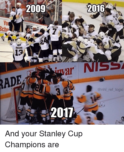 Rading: RADE  2009  2016  EATON  ATERS  @nhl ref logic  2011 And your Stanley Cup Champions are