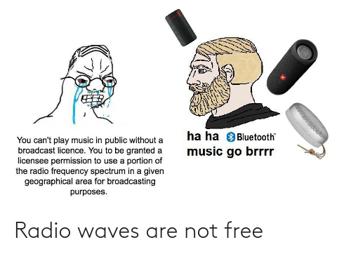 Waves: Radio waves are not free