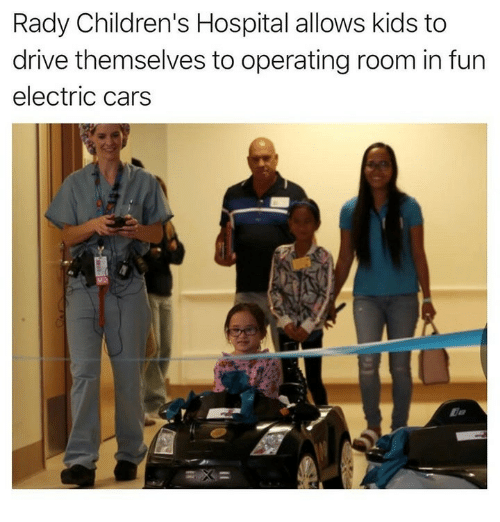 Cars, Children's Hospital, and Drive: Rady Children's Hospital allows kids to  drive themselves to operating room in fun  electric cars