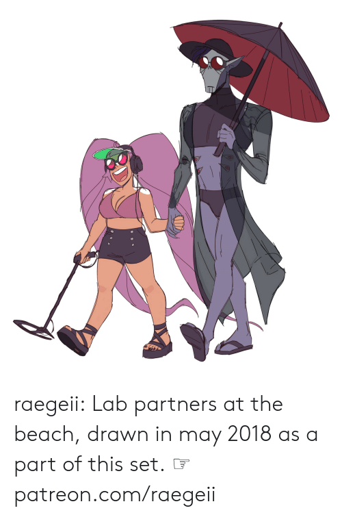 Tumblr, Beach, and Blog: raegeii:  Lab partners at the beach, drawn in may 2018 as a part of this set.  ☞ patreon.com/raegeii
