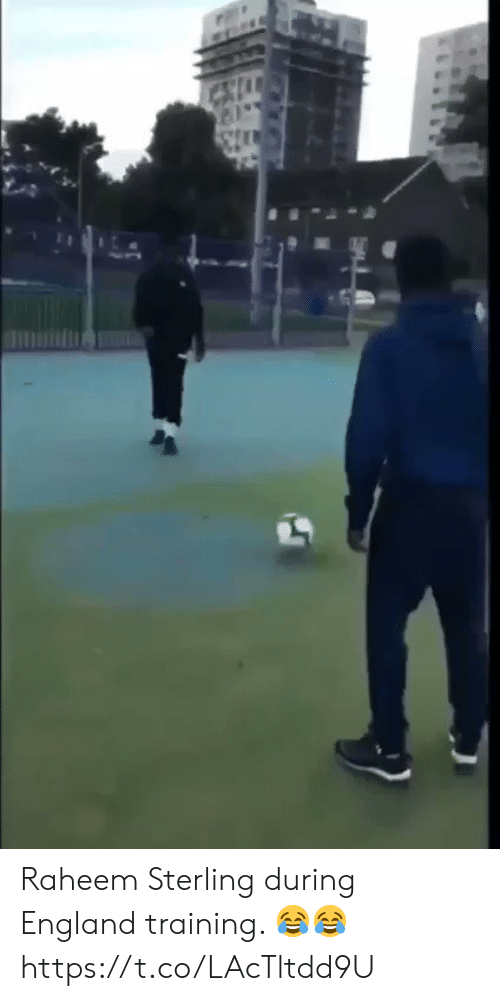 England, Soccer, and Sterling: Raheem Sterling during England training. 😂😂 https://t.co/LAcTltdd9U