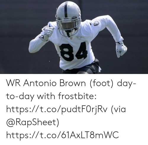 Memes, Raiders, and Antonio Brown: RAIDERS WR Antonio Brown (foot) day-to-day with frostbite: https://t.co/pudtF0rjRv (via @RapSheet) https://t.co/61AxLT8mWC