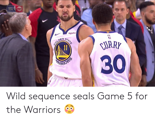 Game, Warriors, and Wild: Rakuten  LDEN e  URRY  30  ARRIO Wild sequence seals Game 5 for the Warriors 😳