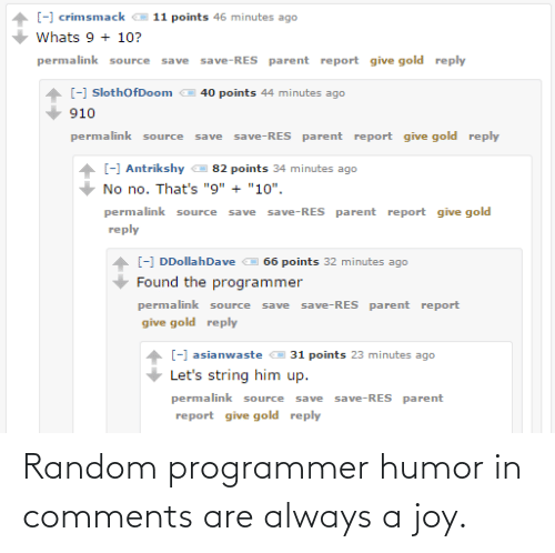 programmer: Random programmer humor in comments are always a joy.