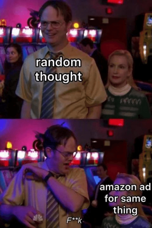 Amazon, Memes, and Thought: random  thought  amazon ad  for same  thing  F**k