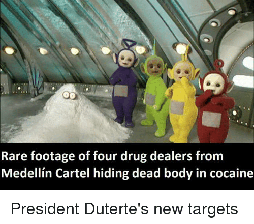 Duterte: Rare footage of four drug dealers from  Medellin Cartel hiding dead body in cocaine President Duterte's new targets