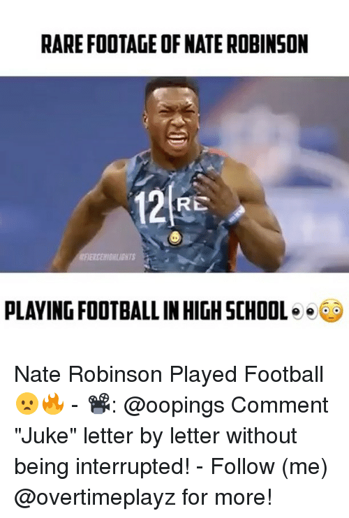 "Nate Robinson: RARE FOOTAGE OF NATE ROBINSON  RE  PLAYING FOOTBALL INHIGHSCHOOL  e Nate Robinson Played Football😦🔥 - 📽: @oopings Comment ""Juke"" letter by letter without being interrupted! - Follow (me) @overtimeplayz for more!"