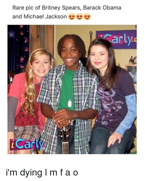 ñO: Rare pic of Britney Spears, Barack Obama  and Michael Jackson  arl  iCan i'm dying l m f a o
