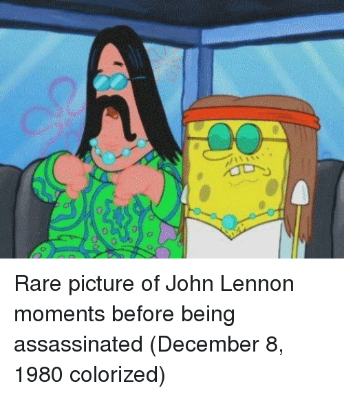 John Lennon, Rare, and Picture: Rare picture of John Lennon moments before being assassinated (December 8, 1980 colorized)